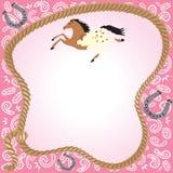 Invitación del partido del Cowgirl Imágenes de archivo libres de regalías