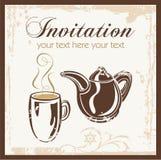 Invitación del partido del tiempo del té Foto de archivo libre de regalías