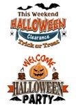 Invitación del partido del traje de Halloween Foto de archivo libre de regalías