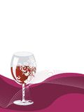 Invitación del partido del vino Fotos de archivo libres de regalías