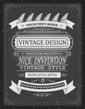 Invitación del vector del vintage o plantilla de la información, elementos del diseño del tablero para la impresión o cualquier c Fotografía de archivo