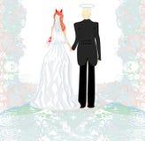 Invitación divertida de la boda Imagenes de archivo