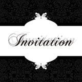 Invitación elegante Fotografía de archivo libre de regalías