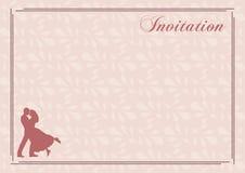 Invitación elegante de la boda Imagenes de archivo