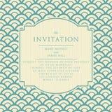 Invitación elegante de la boda del vintage Imagen de archivo