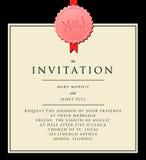 Invitación elegante a la boda Foto de archivo