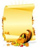 Invitación en blanco del banquete de la acción de gracias Imágenes de archivo libres de regalías