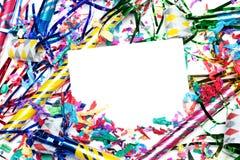 Invitación en blanco en los claxones del partido imágenes de archivo libres de regalías