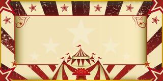 Invitación fantástica del circo del grunge Fotos de archivo libres de regalías