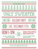 Invitación fea del partido del suéter Imágenes de archivo libres de regalías