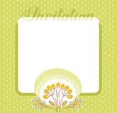 Invitación, flor y bayas, verde, vector Fotos de archivo libres de regalías