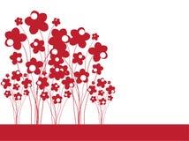 Invitación floral Fotografía de archivo libre de regalías