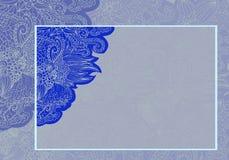 Invitación floral de la invitación de boda Imagen de archivo libre de regalías
