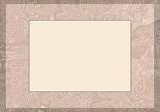 Invitación floral de la invitación de boda Fotos de archivo libres de regalías