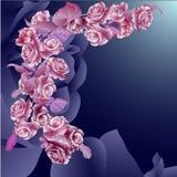 Invitación floral para los acontecimientos de vida Imagen de archivo libre de regalías