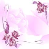 Invitación floral para los acontecimientos de vida Imágenes de archivo libres de regalías