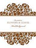 Invitación floral romántica Fotografía de archivo libre de regalías