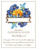 Invitación floral romántica Fotos de archivo libres de regalías