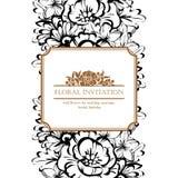 Invitación floral romántica Foto de archivo libre de regalías