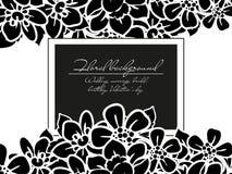 Invitación floral romántica Imágenes de archivo libres de regalías