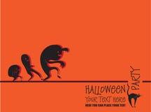Invitación a Halloween Imágenes de archivo libres de regalías