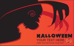 Invitación a Halloween Foto de archivo libre de regalías