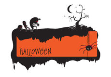 Invitación a Halloween Fotografía de archivo libre de regalías