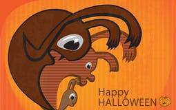 Invitación a Halloween Imagenes de archivo