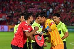 Invitación internacional 2017 del fútbol de Bangkok Imágenes de archivo libres de regalías