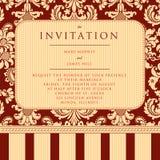 Invitación a la boda o a los avisos Fotografía de archivo