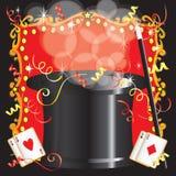 Invitación mágica de la fiesta de cumpleaños del acto del mago Foto de archivo libre de regalías
