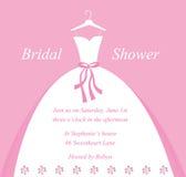 Invitación nupcial de la ducha Imágenes de archivo libres de regalías