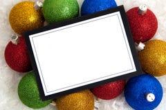 Invitación o Nota-tarjeta de la Navidad Fotografía de archivo libre de regalías
