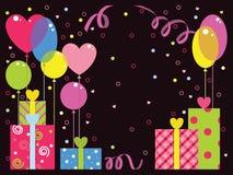 Invitación para el día del ` s de la tarjeta del día de San Valentín Fotografía de archivo libre de regalías