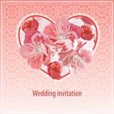 Invitación para la boda Fotos de archivo libres de regalías