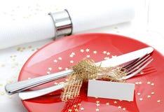 Invitación Para La Cena De La Navidad Foto De Archivo