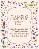 Invitación-Plantilla-beige Fotografía de archivo libre de regalías