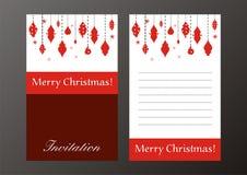 Invitación retra de la Navidad Fotos de archivo libres de regalías