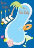 Invitación retra del partido de piscina libre illustration