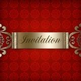 Invitación roja Imagen de archivo libre de regalías