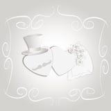 Invitación romántica de la boda del estilo del vintage imágenes de archivo libres de regalías