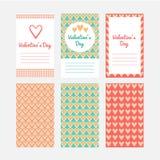 Invitación a un día de tarjetas del día de San Valentín ilustración del vector