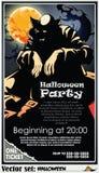 Invitación a un partido en honor de un día de fiesta Halloween Fotografía de archivo