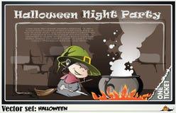 Invitación a un partido en honor de un día de fiesta Halloween Fotografía de archivo libre de regalías