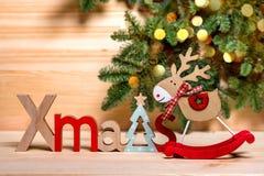 Invitaci?n del A?o Nuevo Saludos de la Navidad imagen de archivo