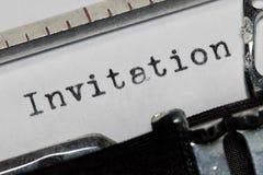 invitación Foto de archivo libre de regalías