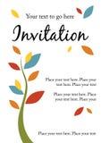 Invitación bonita del partido Foto de archivo libre de regalías