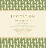 Invitación con un fondo rico en estilo del renacimiento modelo Fotos de archivo