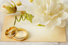 Invitación de la boda Fotos de archivo