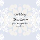 Invitación de la boda con el fondo del cordón Imagenes de archivo